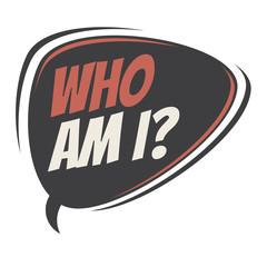 who am i vector speech balloon