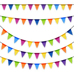 party garlands colored