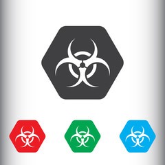 Biohazard virus icon for web and mobile