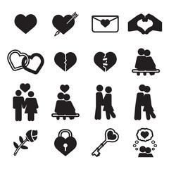 Love icon set. Vector eps10.
