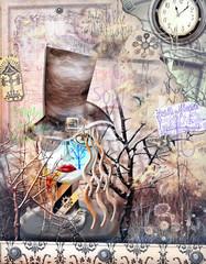 Photo sur Plexiglas Imagination Macabre scarecrow