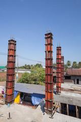 concrete pillar mold for house construction