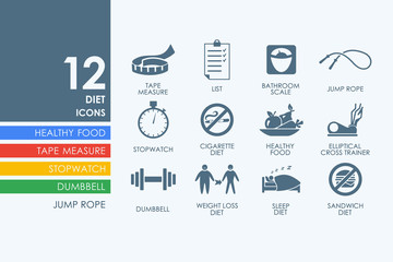 Set of diet icons