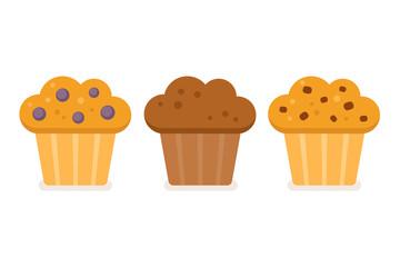 Muffin icon set