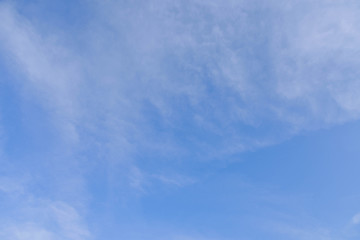 Clear of blue sky with white clouds
