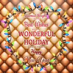 Christmas greeting card. EPS 10