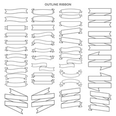 Outline ribbon set collection