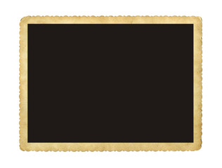 Blank vintage photo paper isolated