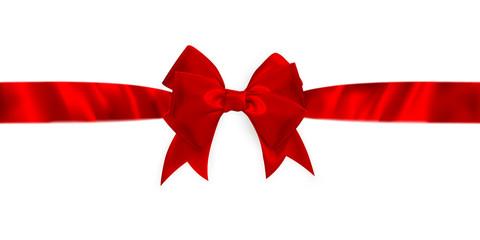 Shiny red satin ribbon. EPS 10