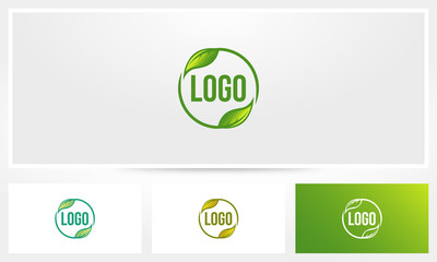 Rounded Leave Logo