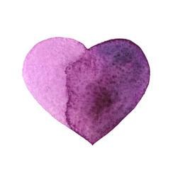 Watercolor hand drawn heart