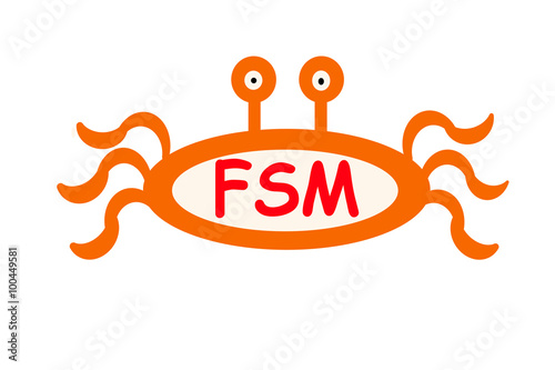 The Fsm Fish Emblem The Symbol Of The Church Of The Flying