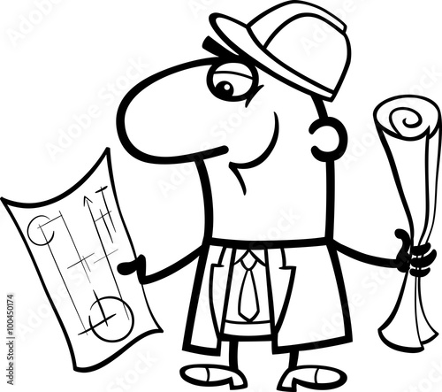 u0026quot engineer cartoon coloring book u0026quot  stock image and royalty