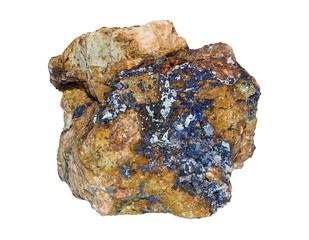 Blue Apatite stone (Madagascar) isolated