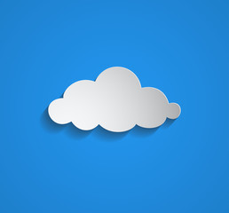 white cloud with shadow on blue sky background.vector eps Ai 10 illustration, could be used in several ideas and topics like cloud computing, weather condition ,child room wall background, cartoons...