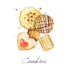 Watercolor Food Painting - Cookies