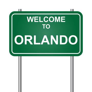 Welcome to Orlando, green signal vector