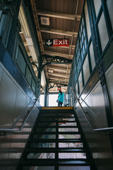 Subway Exit in Harlem, New York