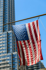 Usa Flag and Skyscrapers
