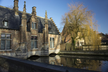 The canals of Bruges, mill