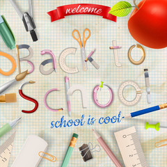Back to school background. EPS 1