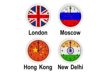 Timezone wall clocks