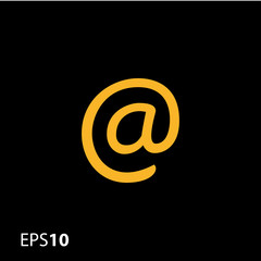 Email sign vector icon for web and mobile