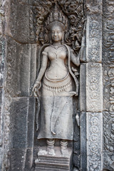 Best preserved dancing girl statue at Bayon temple, angkor wat, cambodia