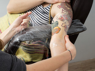 tattoo session - finishing touch