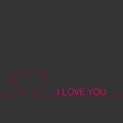 I LOVE YOU - Vektor Grafik