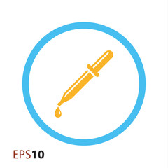 Pipette vector icon for web and mobile