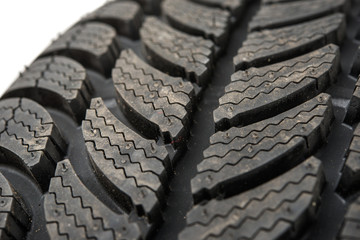 winter tires car isolated