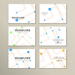 Abstract template presentation of dotted lines and balls
