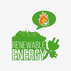 renewable energy illustration over color background