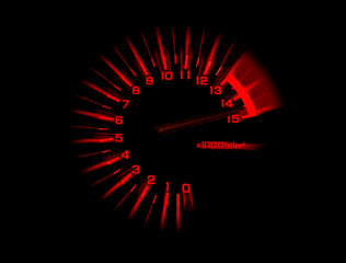 automobile tachometer speedometer