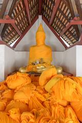 Old Buddha image under restoration