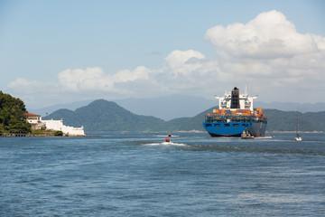 Cargo Ship Leaving