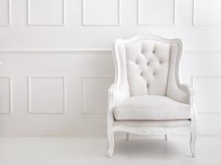 white vintage style armchair