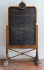 Vintage picture frame, Blackboard, wood plated