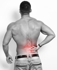 pain in back.Medical concept