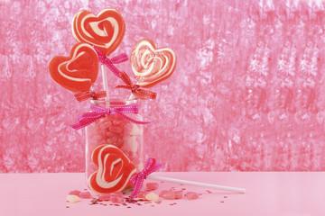 Valentines Day Candy in Jar