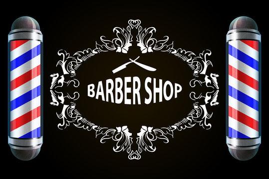 vector illustration Barber Poles, barber shop