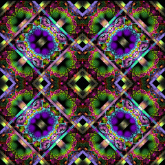 Fabulous diagonal fractal pattern with shiny strips. Collection