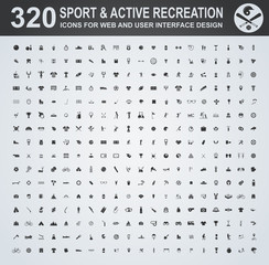 Sport and active recreation icon set