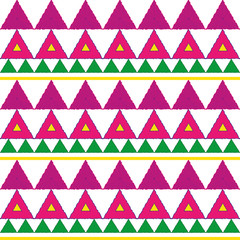 Abstract geometric seamless patterns. Ethnic style pattern with triangle and line.