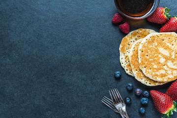 Pancakes border background