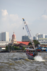 Bangkok,view from tourists boats on Chao Phraya river