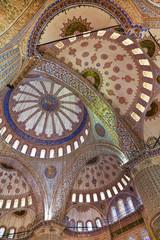 interior of the Blue mosque, Sultanahmet, in Istanbul, Turkey