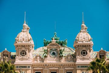 Building of casino in Monte Carlo in Monaco. French Riviera