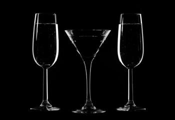 Stylish composition of three glasses